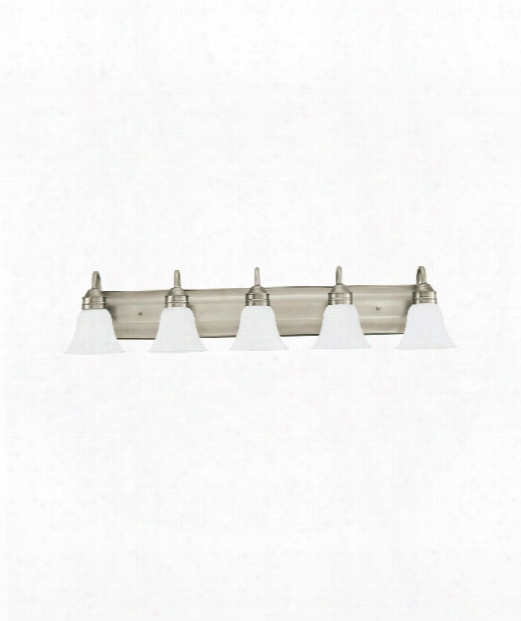 "Gladstone 41"" Led 5 Light Bath Vanity Light In Antique Brushed Nickel"