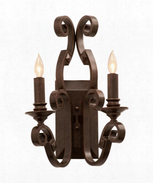 "Ibiza 16"" 2 Light Wall Sconce In Antique Copper"