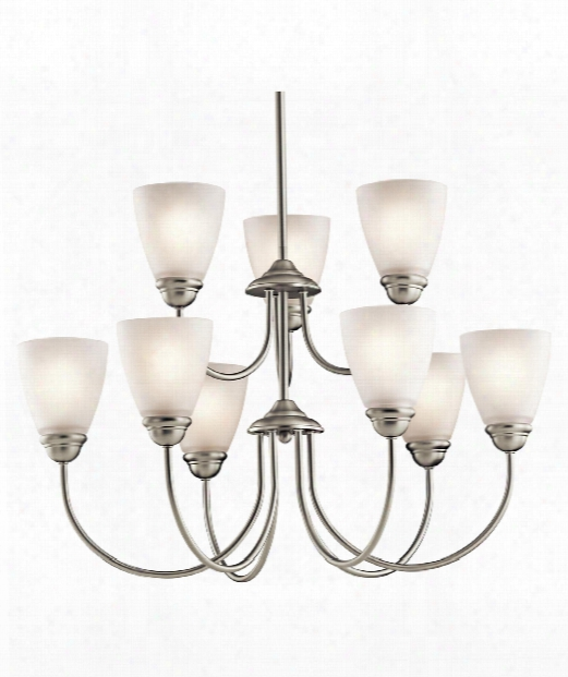 Jolie 28&quot Led 9 Light Chandelier In Brushed Nickel