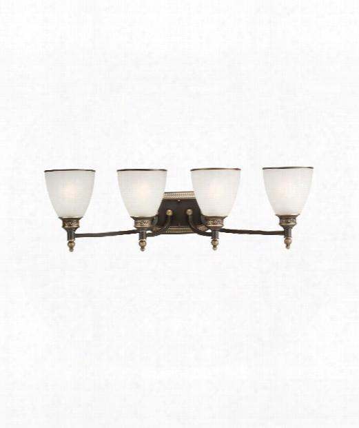 """Laurel Leaf 30"""" Led 4 Light Bath Vanity Light In Estate Bronze"""