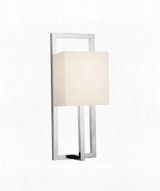"Linea 5"" 1 Light Wall Sconce In Polished Nickel"