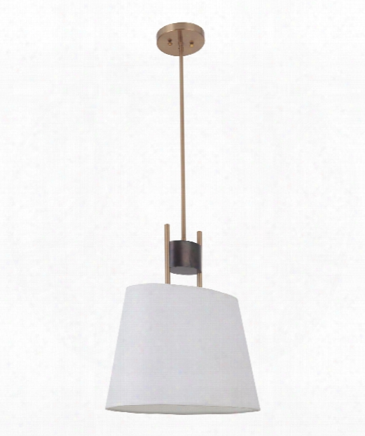"Parker 10"" 1 Light Mini Pendant In Fired Steel-satin Brass"