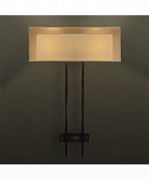 "Quadralli 15"" 2 Light Wall Sconce In Bourbon"