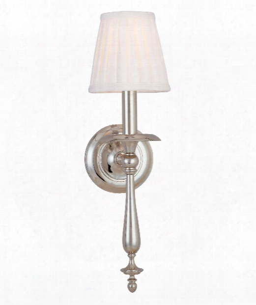 """Quincy 6"""" 1 Light Wall Sconce In Polished Nickel"""