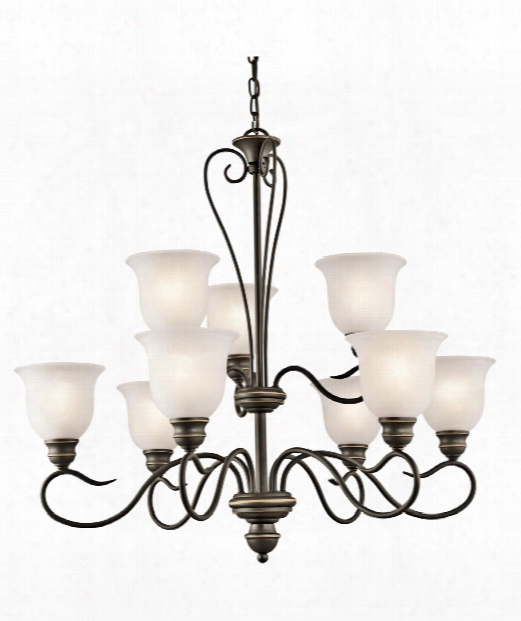 "Tanglewood 32"" Led 9 Light Chandelier In Olde Bronze"