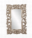 "Augustus 46"" Wall Mirror in Warm Antique Silver Leaf"