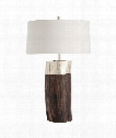 "Emery 20"" 1 Light Table Lamp in Natural-Silver Leaf"