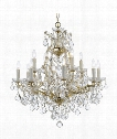"Maria Theresa 29"" 12 Light Chandelier in Gold"
