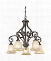 "Monroe 34"" LED 5 Light Chandelier in Olde Bronze"
