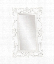 "Whittington 44"" Wall Mirror in Glossy White"