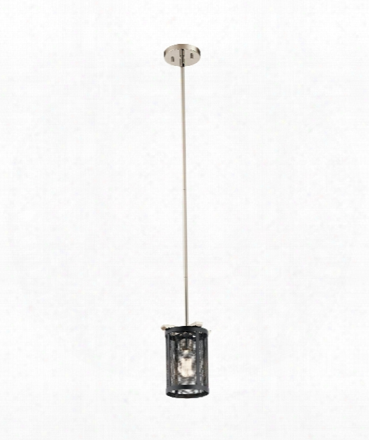 "Titus 7"" 1 Light Large Pendant In Polished Nickel"