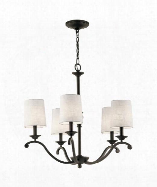 """Versailles 26"""" 5 Light Chandelier In Olde Bronze"""