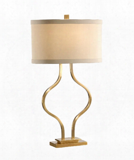 1 Light Table Lamp In Antiqued Brass Finish