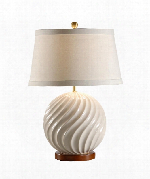 Ball In Twist 1 Light Table Lamp In Antique White