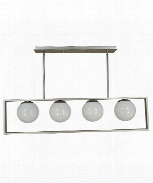 "Blue Moon 40"" 4 Light Island Light In Satin Pewter - Polished Nickel"
