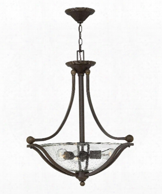 "Bolla 23"" 3 Light Large Pendant In Olde Bronze"