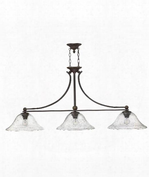 "Bolla 56"" 3 Light Island Light In Olde Bronze"