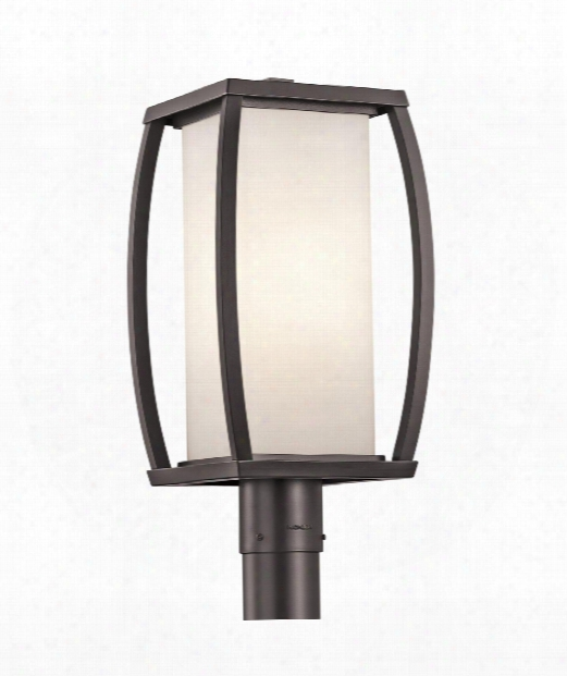"""Bowen 9"""" 1 Light Outdoor Outdoor Post Lamp In Architectural Bronze"""