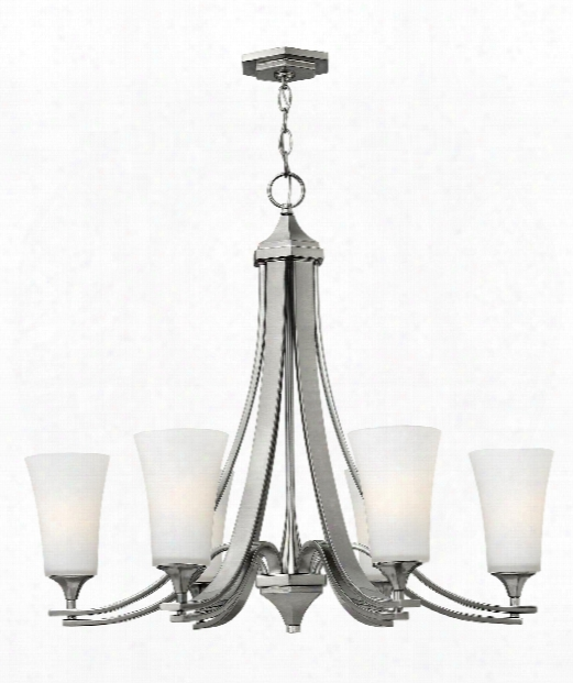 "Brantley 30"" 6 Light Chandelier In Brushed Nickel"