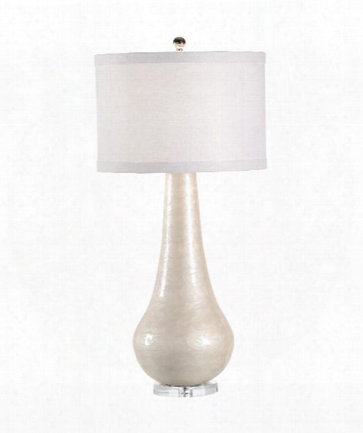 Cameron 1 Light Table Lamp In Cream Swirl Enamel