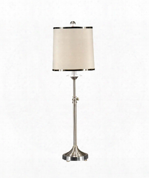 Contemporary Table 1 Light Table Lamp In Nickel