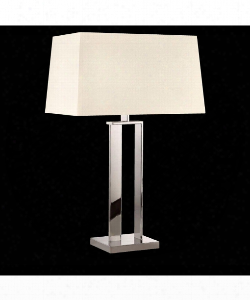 """D-lamp 20"""" 2 Light Table Lamp In Polished Nickel"""