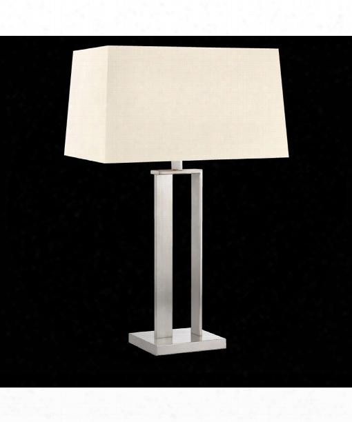 """D-lamp 20"""" 2 Light Slab Lamp In Satin Nickel"""