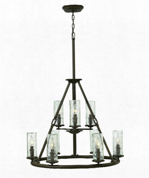 "Dakota 29"" 9 Light Chandelier In Oil Rubbed Bronze"