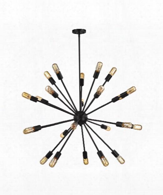 "Delphine 36"" 24 Light Large Pendant In Oil Rubbed Bronze"