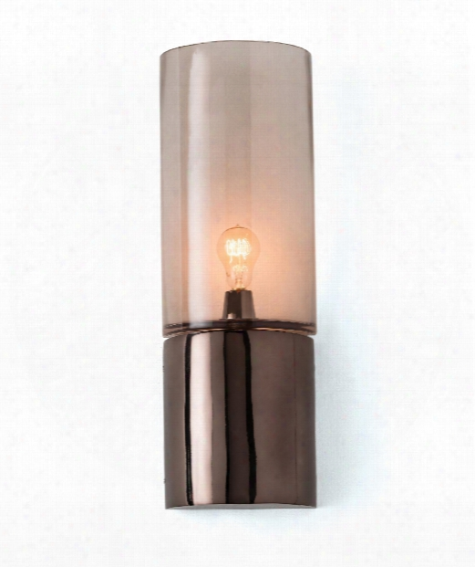 """Dominick 7"""" 1 Light Wall Sconce In Brown Nickel"""