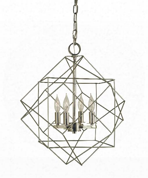 "Etoile 15"" 4 Light Mini Chandelier In Mahogany Bronze-antique Brass"
