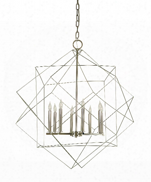 "Etoile 36"" 8 Light Chandelier In Mahogany Bronze-antique Brass"