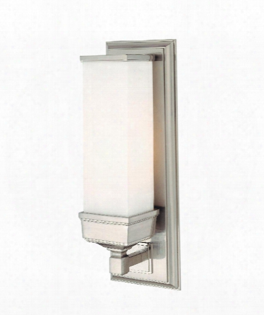 "Everett 5"" 1 Light Wall Sconce In Satin Nickel"