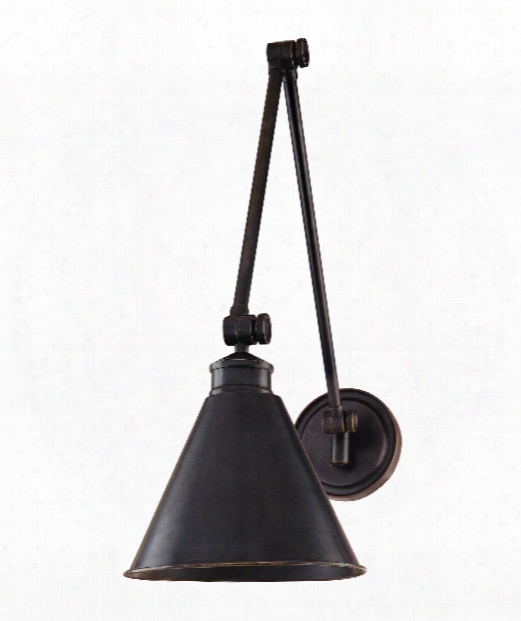 "Exeter 8"" 1 Light Wall Swing Lamp In Old Bronze"