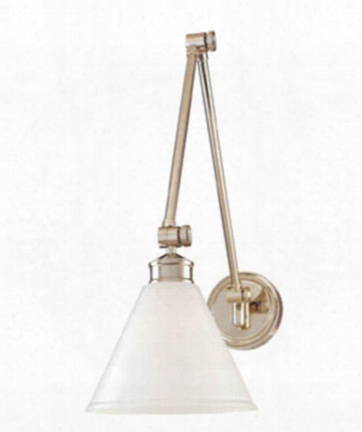 "Exeter 8"" 1 Light Wall Swing Lamp In Polished Nickel"