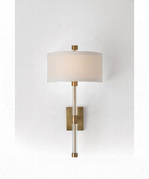 "Gardner 14"" 1 Light Wall Sconce In Antique Brass"