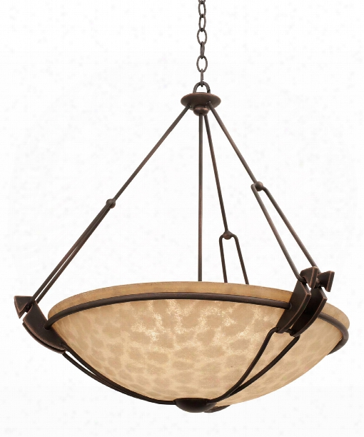 Grande 5 Light Large Pendant In Antique Copper