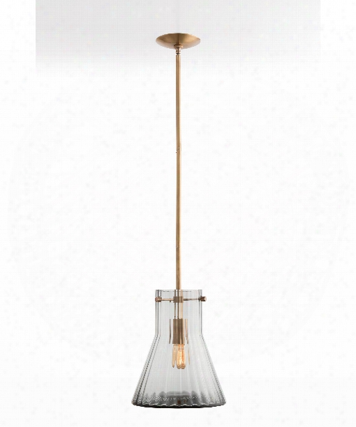 "Hurley 12"" 1 Light Large Pendant In Smoke"