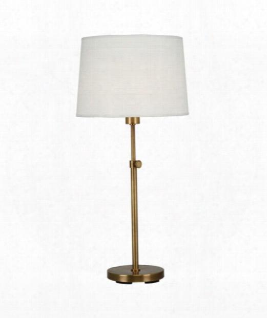 "Koleman 7"" 1 Light Table Lamp In Aged Brass"