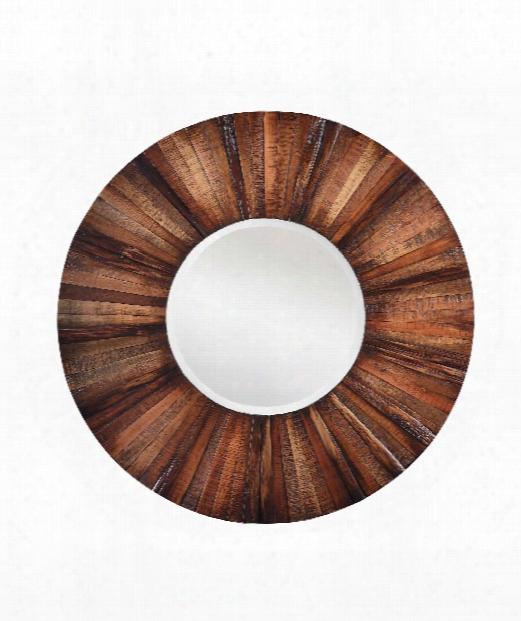 "Kona 36"" Wall Mirror In Natural Rustic Wood"