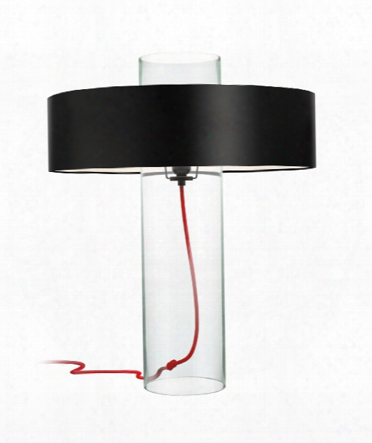 """Level 19"""" 1 Light Table Lamp In Clear Glass"""
