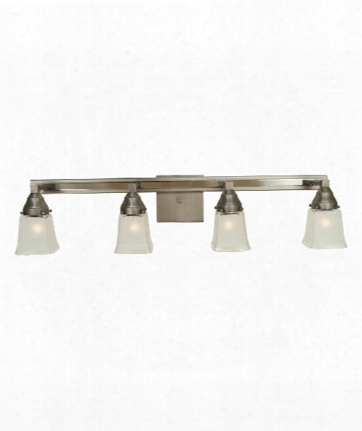 "Mercer 32"" 4 Light Wall Sconce In Satin Pewter-polished Nickel"