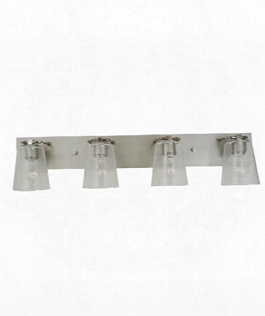 "Mercer 36"" 4 Light Bath Vanity Light In Satin Pewter With Polished Nickel"