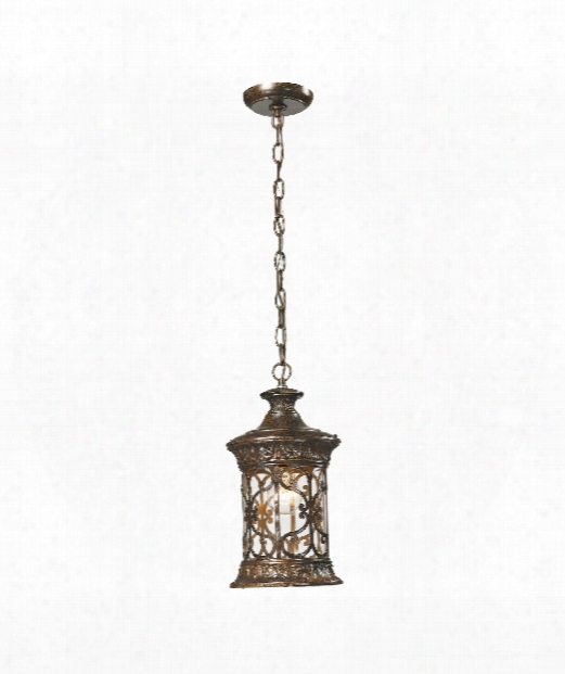 "Orlean 6"" 1 Light Large Pendant In Hazelnut Ronze"