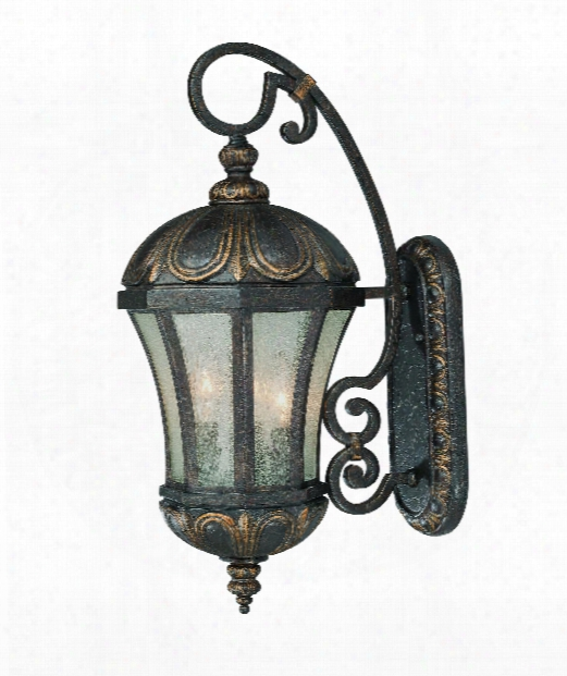 """Ponce De Leon 9"""" 3 Light Outdoor Outddoor Wall Light In Old Tuscan"""