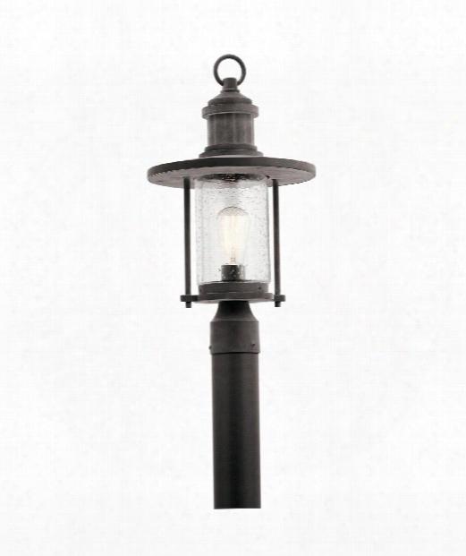 """Riverwood 11"""" 1 Light Outdoor Outdoor Post Lamp In Weathered Zinc"""