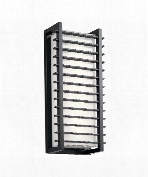 "Rockbridge 9"" Led 2 Light Outdoor Outdoor Wall Light In Black"