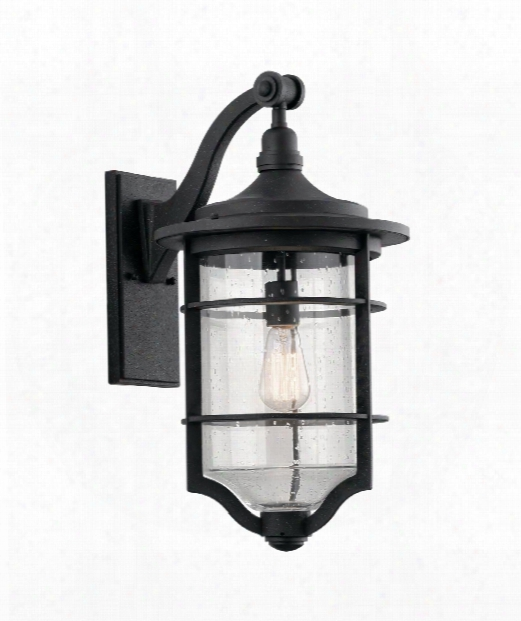 """Royal Marine 12"""" 1 Light Outdoor Outdoor Wall Light In Distressed Black"""
