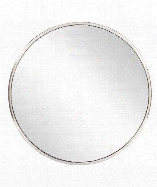 "Simone 36"" Wall Mirror In Silver"
