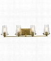 "Alton 34"" 4 Light Bath Vanity Light in Natural Brass"